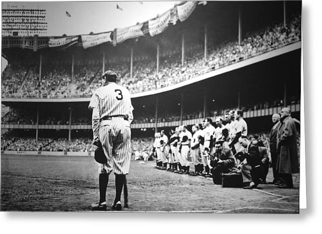 Babe Ruth Poster Greeting Card by Gianfranco Weiss