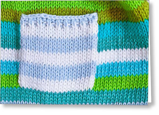 Knitwear Greeting Cards - Babies jumper Greeting Card by Tom Gowanlock