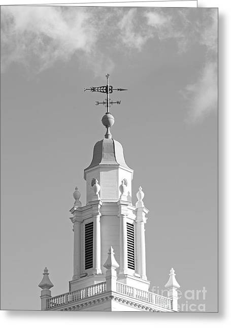 Cupola Photographs Greeting Cards - Babson College Tomasso Hall Cupola Greeting Card by University Icons