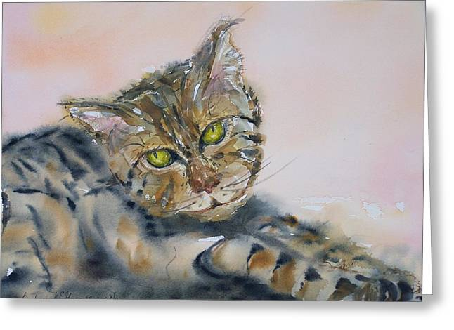 Lounge Paintings Greeting Cards - Baby Greeting Card by Barbara McGeachen
