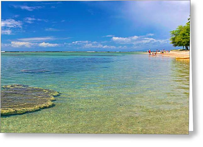 Panoramic Greeting Cards - Baby Beach Greeting Card by Andy Jackson