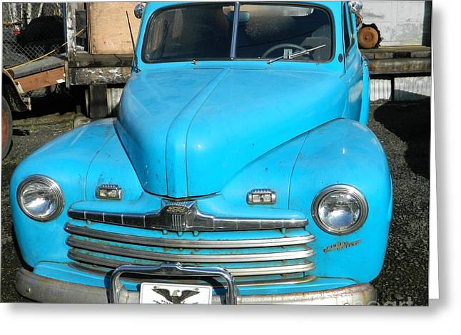 Neurotic Images Photography Greeting Cards - Baby Blue Ford Greeting Card by Chalet Roome-Rigdon