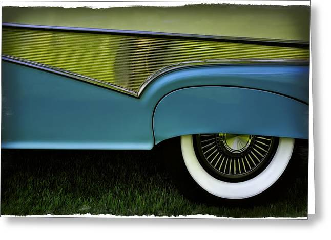 Red Chev Greeting Cards - Baby Blue Greeting Card by Jerry Golab
