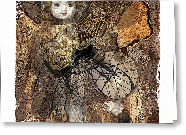 Baby Doll Greeting Cards - Baby Buggy Greeting Card by Bob Salo