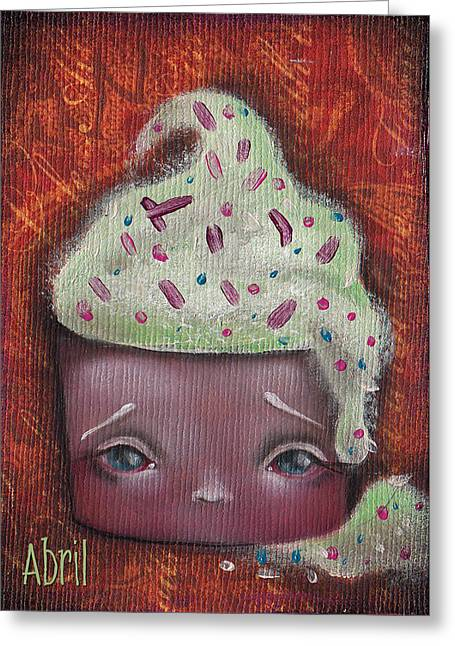 Cupcake Paintings Greeting Cards - Baby Cakes II Greeting Card by  Abril Andrade Griffith
