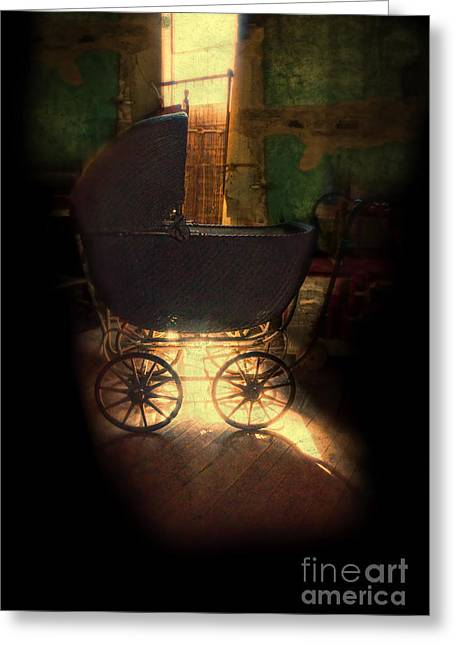 Run Down Greeting Cards - Baby Carriage in the Attic Greeting Card by Jill Battaglia
