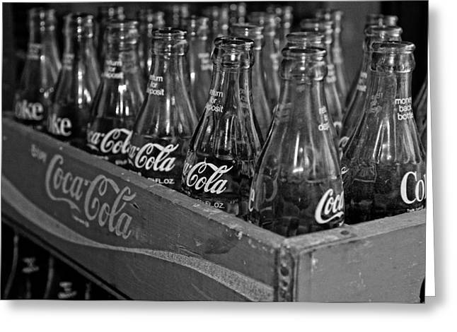 Carbonation Greeting Cards - Baby Cokes Greeting Card by Andy Crawford