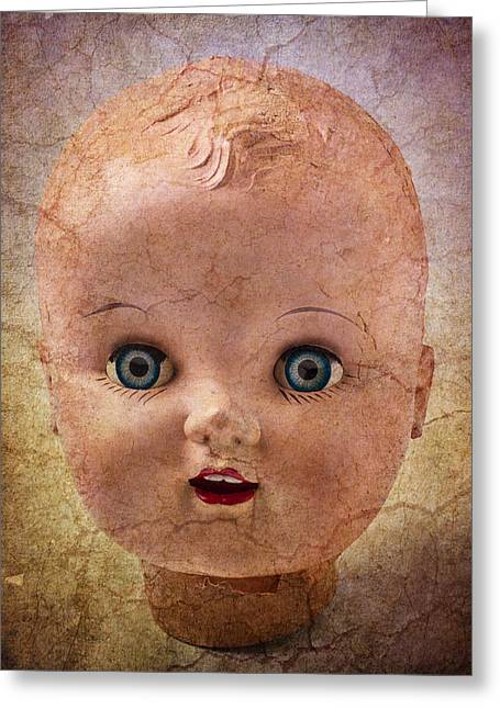 Fanciful Greeting Cards - Baby Doll Face Greeting Card by Garry Gay