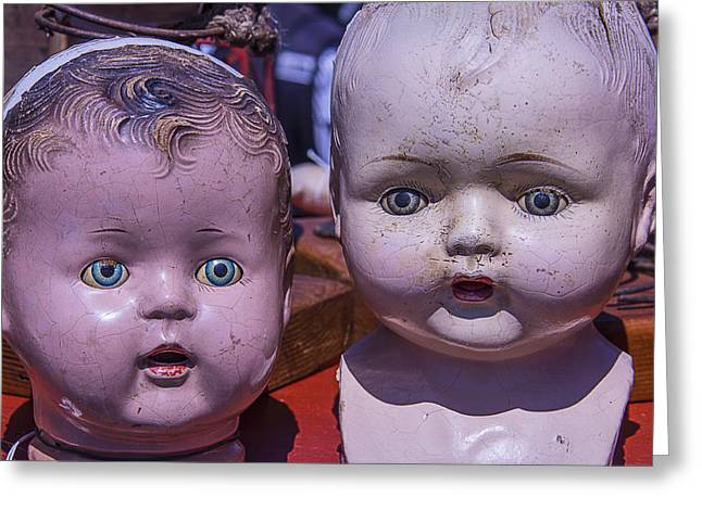 Flea Greeting Cards - Baby Doll Heads Greeting Card by Garry Gay