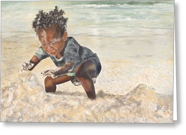 Ethereal Beach Scene Digital Art Greeting Cards - Baby Eugene Greeting Card by Kimberly Potts