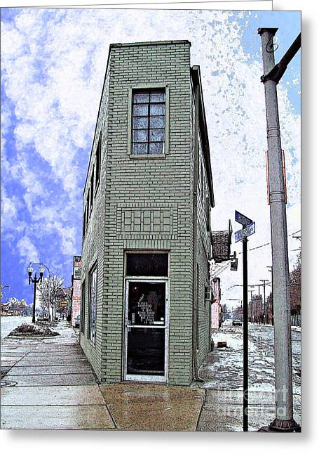 Mj Photographs Greeting Cards - Baby Flatiron in River Rouge Greeting Card by MJ Olsen