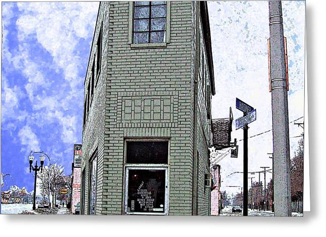 Baby Flatiron in River Rouge Greeting Card by MJ Olsen