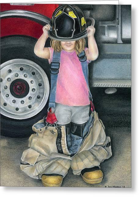 Fireman Boots Greeting Cards - Baby Girl Greeting Card by Jodi Monroe