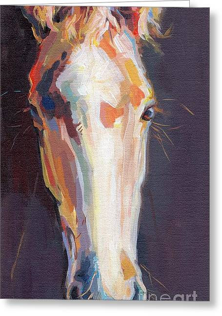 Race Horse Greeting Cards - Baby Girl Greeting Card by Kimberly Santini