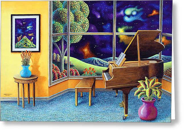 Imagined Landscape Greeting Cards - Baby Grand Greeting Card by Andy Russell