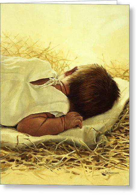 Manger Greeting Cards - The Gift of God Greeting Card by Graham Braddock