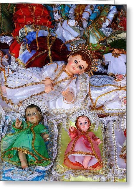 Tarjetas Greeting Cards - Baby Jesus Figures for Nativity Scenes Greeting Card by James Brunker