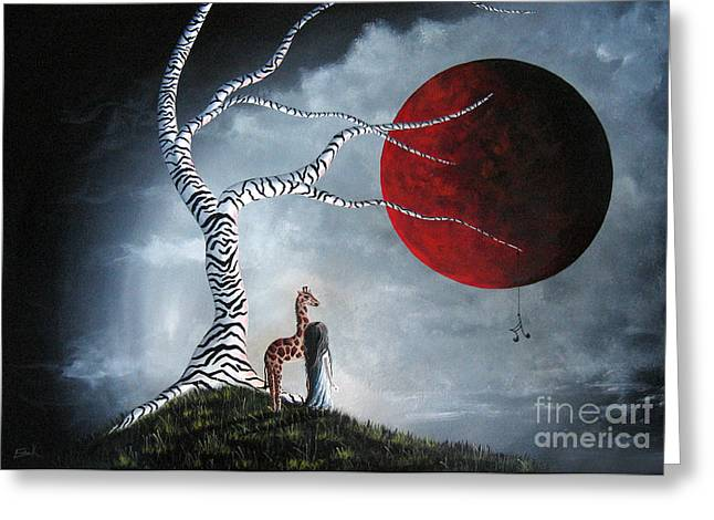 Surreal Fantasy Trees Landscape Greeting Cards - Baby Let Me In Your World by Shawna Erback Greeting Card by Shawna Erback