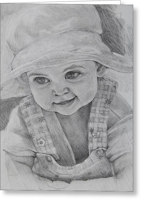 Baby Meg Greeting Card by Jani Freimann