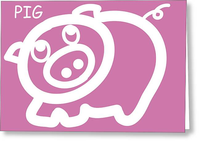 Baby Room Greeting Cards - Baby pig art for the nursery Greeting Card by Nursery Art
