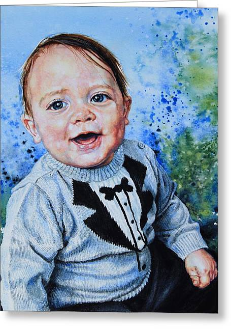 My Baby Greeting Cards - Baby Portrait Greeting Card by Hanne Lore Koehler