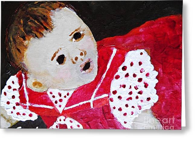 People Paintings Greeting Cards - Baby Rebekah Greeting Card by Sarah Loft