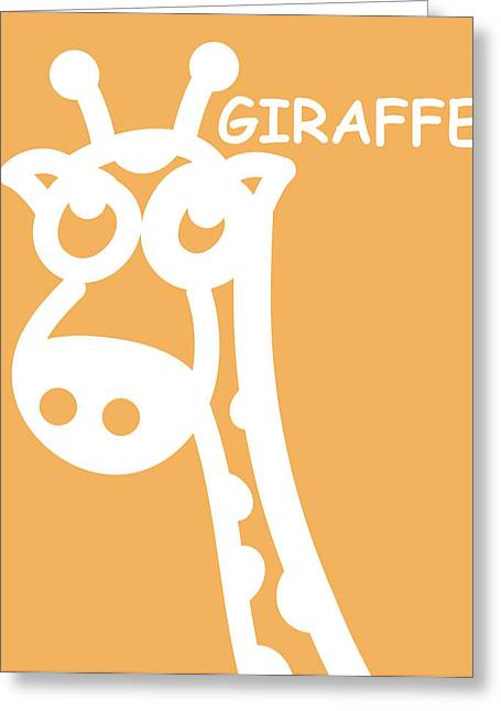 Triplets Greeting Cards - Baby Room Art - Giraffe Greeting Card by Nursery Art
