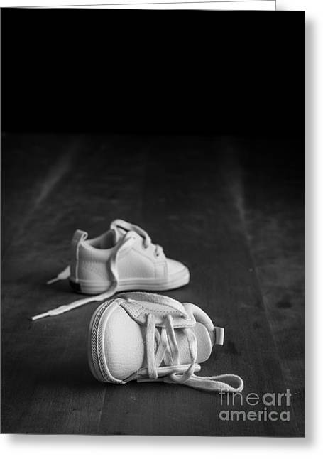 Missing Greeting Cards - Baby Shoes Greeting Card by Edward Fielding