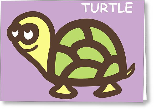 Baby Turtle Nursery Wall Art Greeting Card by Nursery Art