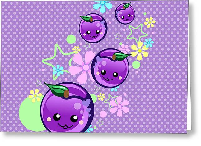 Sweat Digital Art Greeting Cards - Babyplums Greeting Card by Mellisa Ward