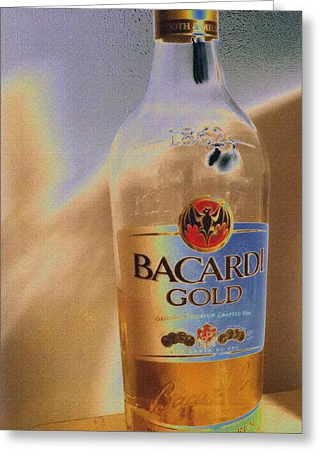 Rum Mixed Media Greeting Cards - Bacardi Rum Study 3 Greeting Card by Billy Cooper Rice