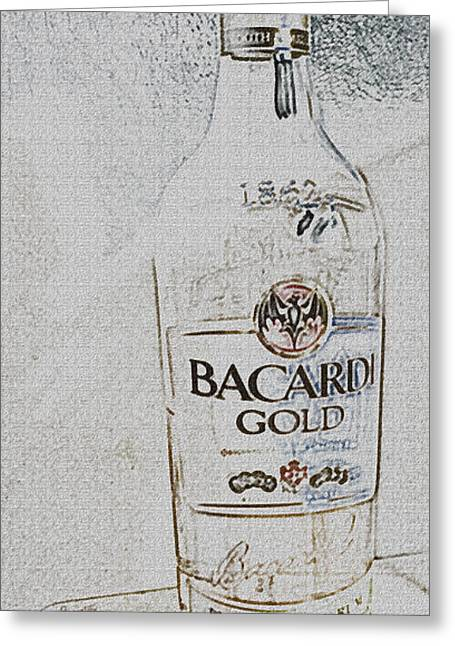Rum Mixed Media Greeting Cards - Bacardi Rum Study 1 Greeting Card by Billy Cooper Rice