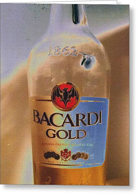 Rum Mixed Media Greeting Cards - Bacardi Rum Study 4 Greeting Card by Billy Cooper Rice