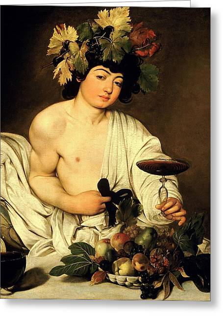 Italian Wine Greeting Cards - Bacchus 1595 Greeting Card by Caravaggio