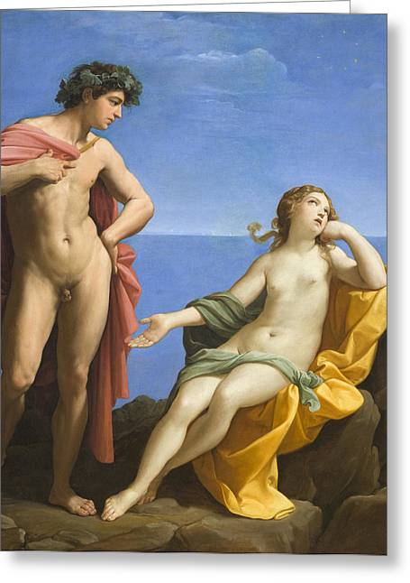 Bacchus Greeting Cards - Bacchus and Ariadne Greeting Card by Guido Reni