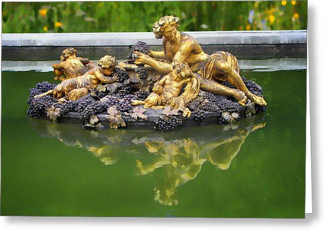Bacchus Greeting Cards - Bacchus Fountain Greeting Card by Nikolyn McDonald