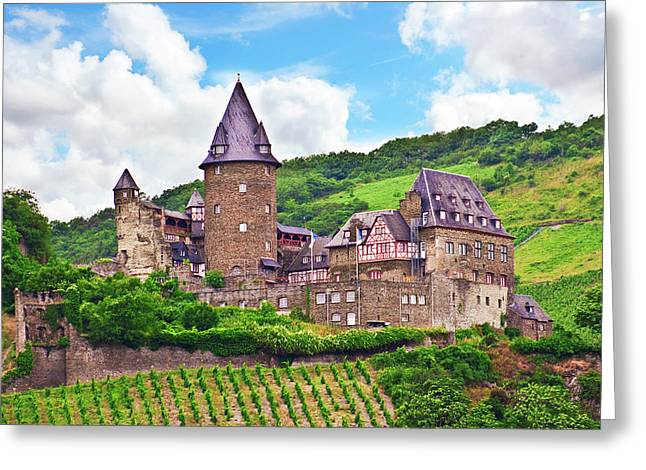 Bacharach, Germany, Stahleck Castle Greeting Card by Miva Stock