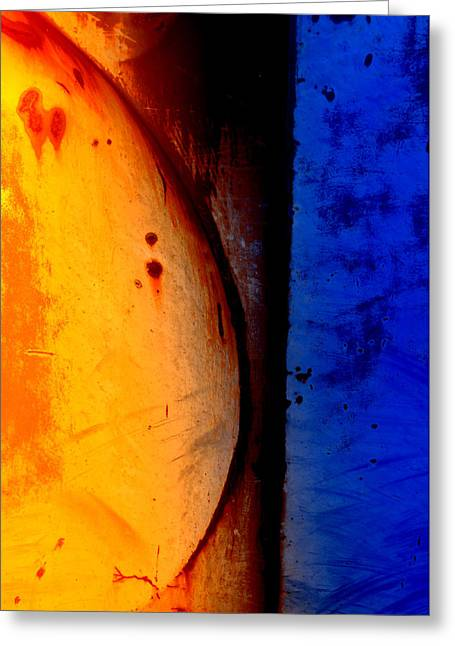 Daysray Photography Greeting Cards - Back Against the Wall Greeting Card by Fran Riley