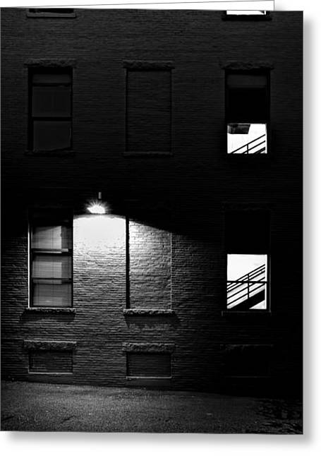 Back Alley 330am Greeting Card by Bob Orsillo