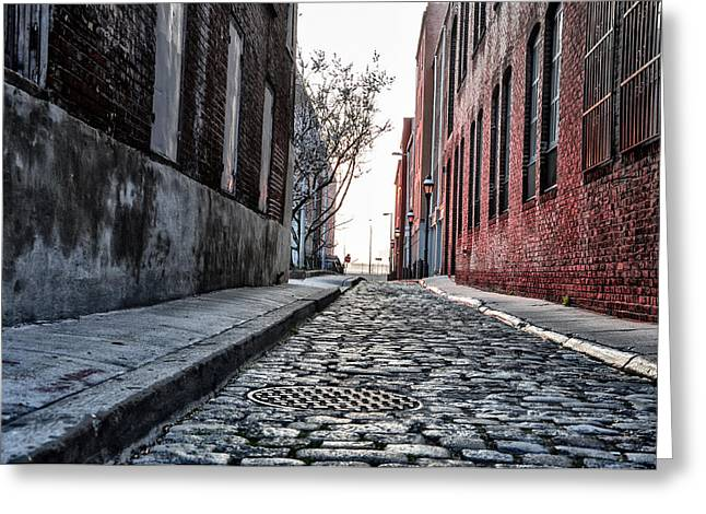 Back Alley Greeting Cards - Back Alley Greeting Card by Bill Cannon