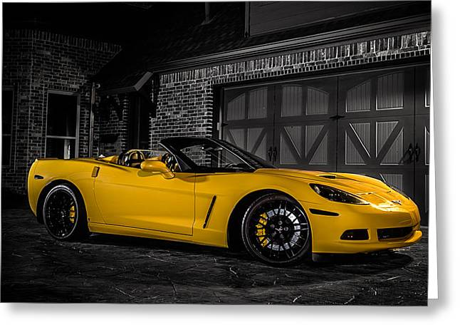 Sportscar Greeting Cards - Back at the Corral Greeting Card by Douglas Pittman