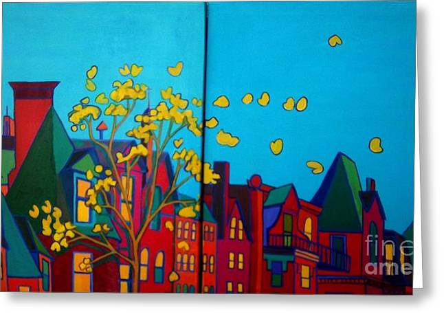 Cupola Paintings Greeting Cards - Back Bay Boston Greeting Card by Debra Bretton Robinson