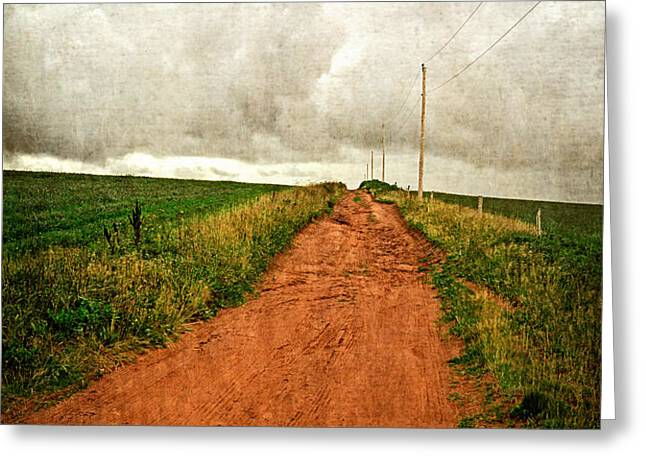 Back Country Road PEI Greeting Card by Edward Fielding
