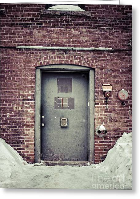 Concord Greeting Cards - Back door alley way Greeting Card by Edward Fielding