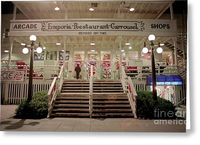 Video Game Life Greeting Cards - Back Door of the Edgewater Packing Company Greeting Card by James B Toy