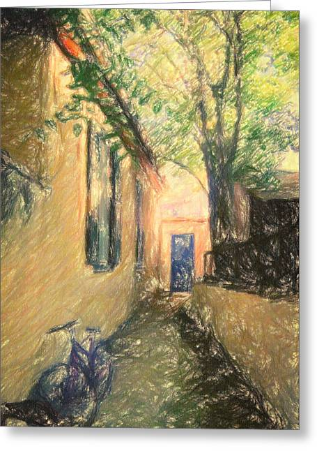Renoir Greeting Cards - Back door Greeting Card by Taylan Soyturk