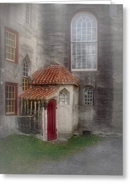 Byzantine Greeting Cards - Back Door To The Castle Greeting Card by Susan Candelario
