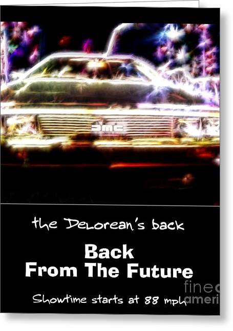 1955 Movies Greeting Cards - Back From The Future Greeting Card by Renee Trenholm