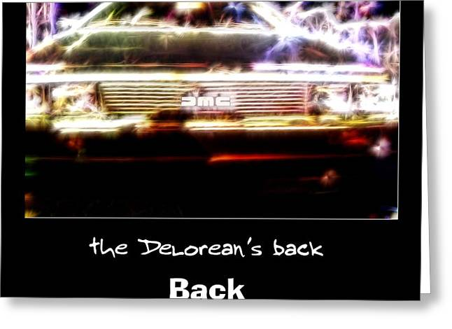 Back From The Future Greeting Card by Renee Trenholm