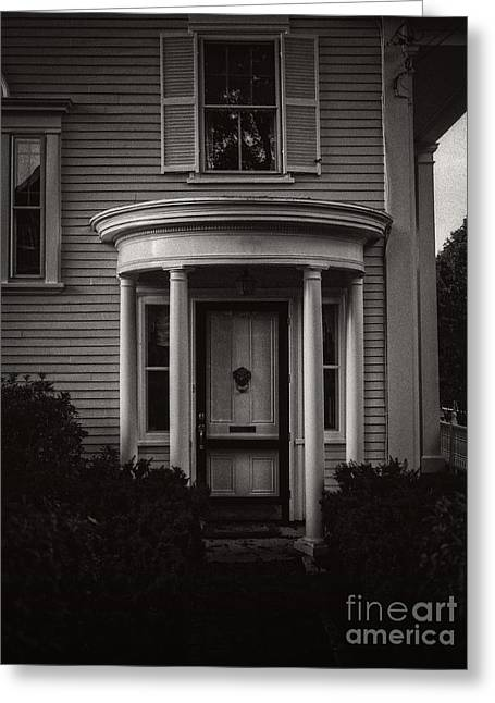 Entrance Door Greeting Cards - Back Home Bar Harbor Maine Greeting Card by Edward Fielding